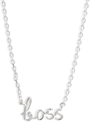 Estella Bartlett Boss Silvertone Pendant Necklace