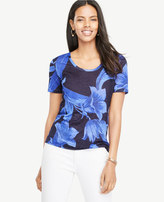 Ann Taylor Scoop Neck Sunday Tee - In Tropical Garden