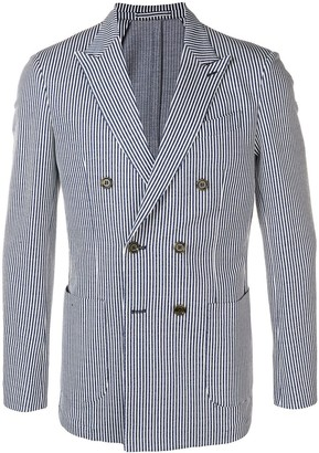 Eleventy striped double-breasted blazer