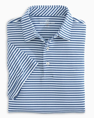 Southern Tide Ryder Heathered Striped Performance Polo Shirt