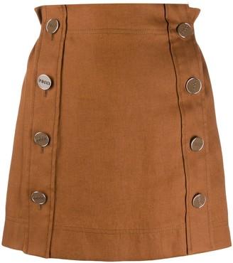 Emilio Pucci Buttoned Mini Skirt
