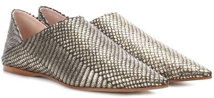 Acne Studios Aminatha leather babouche slippers