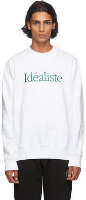 Casablanca White Idealiste Sweatshirt