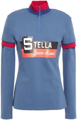 Stella Jean Printed Stretch-jersey Turtleneck Top