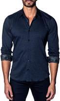 Jared Lang Men's Modern-Fit Knit Long-Sleeve Shirt