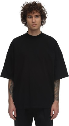 Jil Sander High Collar Over Cotton Jersey T-Shirt
