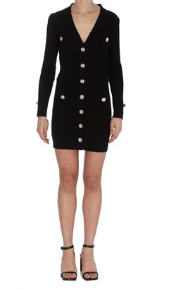 Pinko V-Neck Buttoned Dress