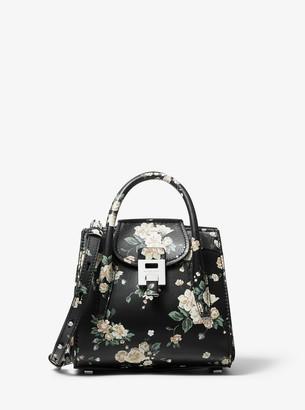 Michael Kors Bancroft Mini Floral Calf Leather Satchel