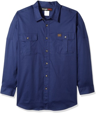 Wrangler Men's Big-Tall Riggs Workwear Big and Tall Work Shirt Shirt
