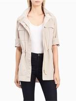 Calvin Klein Lightweight Hooded Roll Sleeve Jacket