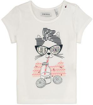 Ikks MEOLIA girls's T shirt in White