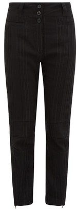Ann Demeulemeester Stripe Woven Slim-leg Trousers - Womens - Black
