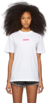Marcelo Burlon County of Milan White Peligro T-Shirt