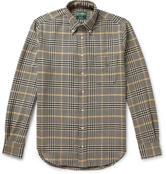 Gitman Brothers Button-Down Collar Houndstooth Cotton Shirt