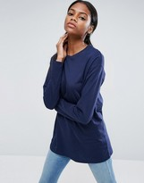 Asos Long Sleeve Longline T-Shirt