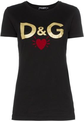Dolce & Gabbana logo heart print T-shirt