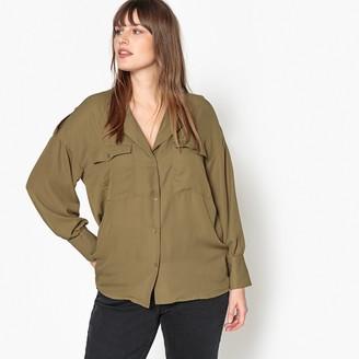 Castaluna Plus Size Shirt with Patch Pockets
