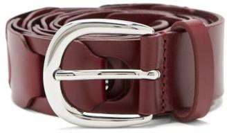 Isabel Marant Zak Braided-leather Belt - Burgundy