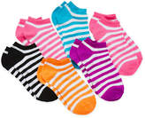 JCPenney Total Girl 6-pk. Chevron No-Show Socks - Girls