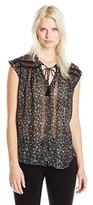 Lucky Brand Women's Floral Inset Top