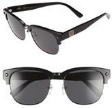 MCM Women's 55Mm Retro Sunglasses - Shiny Dark Gunmetal/ Black