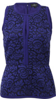 J. Mendel Halter Top With Lace Embroidery