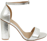 Yours Clothing Silver COMFORT INSOLE Block Heel Mary Sandal In E Fit