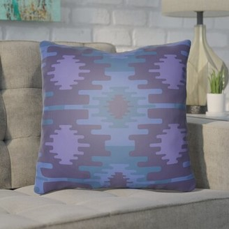 """Bronx Adamson Square Indoor/Outdoor Throw Pillow Ivy Size: 18"""" H x 18"""" W x 3.5"""" D, Color: Green"""