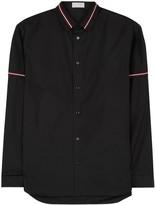 Dior Homme Black Stripe-trimmed Cotton Poplin Shirt