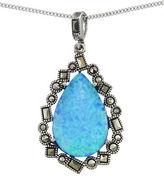 Lord & Taylor Opal Teardrop Pendant Necklace