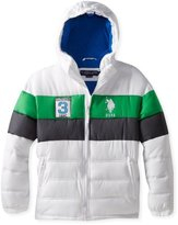 U.S. Polo Assn. U.S. Polo Association Big Boys' Double Quilted Puffer Jacket