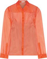 DELPOZO Silk-voile blouse