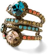 Sorrelli Blue & Goldtone Stacked Ring With Swarovski® Crystals