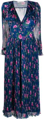 Philosophy di Lorenzo Serafini Floral Print Pleated Dress