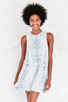 Silence & Noise Silence + Noise Sleeveless Print Swing Dress