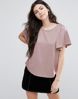 Vila T-Shirt With Frill Sleeve