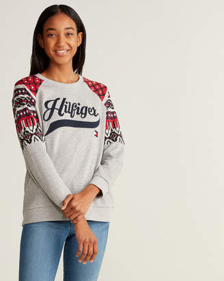 Tommy Hilfiger Quilted Logo Long Sleeve Sweatshirt