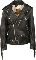 Golden Goose Deluxe Brand Fringe Leather Biker Jacket