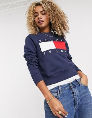Tommy Jeans flag sweatshirt in navy