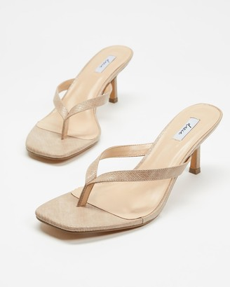 Dazie - Women's Neutrals Heeled Sandals - Thong Heels - Size 5 at The Iconic