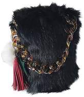 TJEtrade Shoulder Bag for Women Handle Purse CrossBody Bag Small luxury Fox Fur
