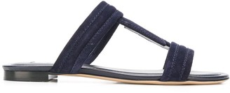 Tod's Double T strap sandals