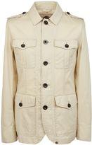 Pretty Green Lightweight Cotton Button Up Jacket