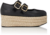 Marni WOMEN'S DOUBLE BUCKLE LEATHER MARY JANE ESPADRILLES
