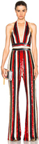 Zuhair Murad Embroidered Stripe Jumpsuit
