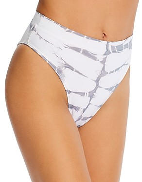 L-Space Frenchie Printed High-Waist Bikini Bottom
