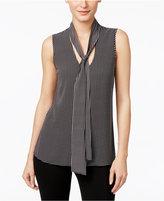 MICHAEL Michael Kors Printed Tie-Neck Blouse