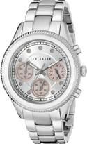 Ted Baker Women's TE4108 Dress Sport Analog Display Japanese Quartz -Tone Watch