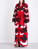 Yuliya Magdych Viburnum embroidered linen kaftan dress