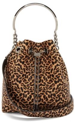 Jimmy Choo Bon Bon Leopard-print Calf-hair Clutch Bag - Leopard
